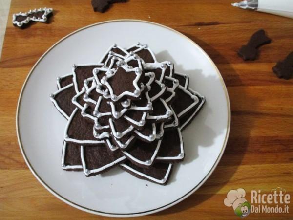 Albero di Natale di biscotti al cioccolato 10