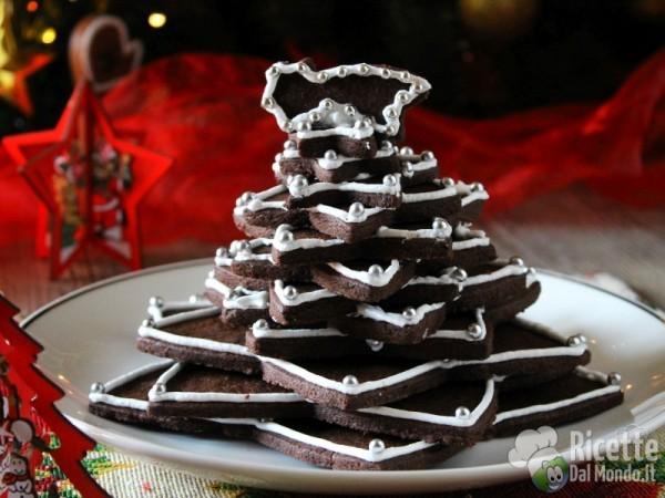 Ricetta Albero di Natale di biscotti al cioccolato