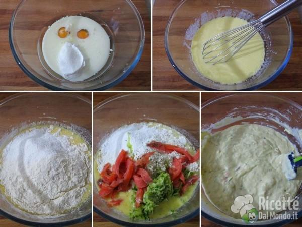 Muffin salati con salmone e zucchine 2