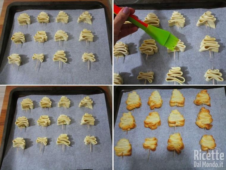 Alberi di Natale di pasta sfoglia dolci 3