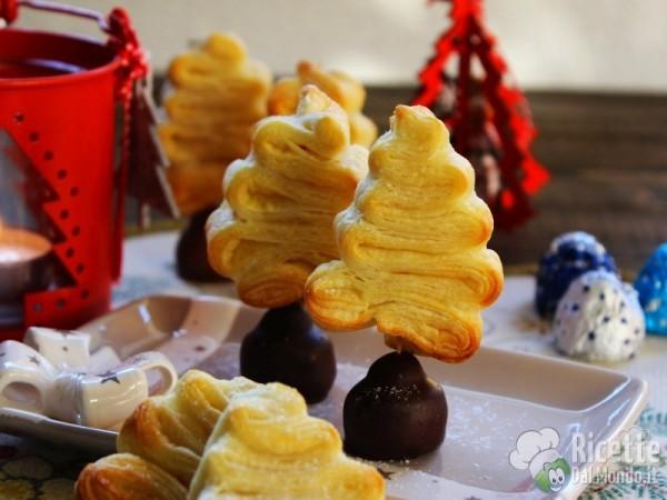 Ricetta Alberi di Natale di pasta sfoglia dolci