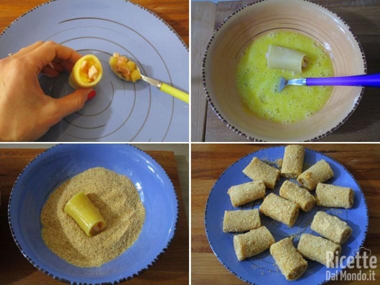 Paccheri fritti ripieni di calamari e patate 7