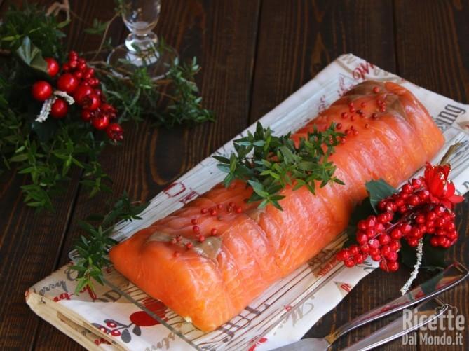 Sformato di salmone e ricotta freddo