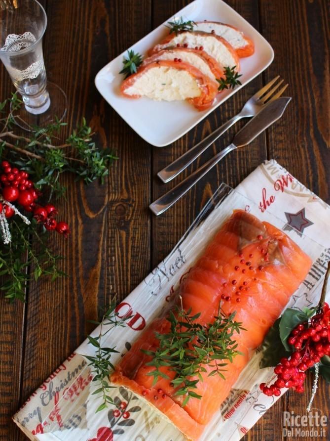 Sformato di salmone e ricotta per antipasto