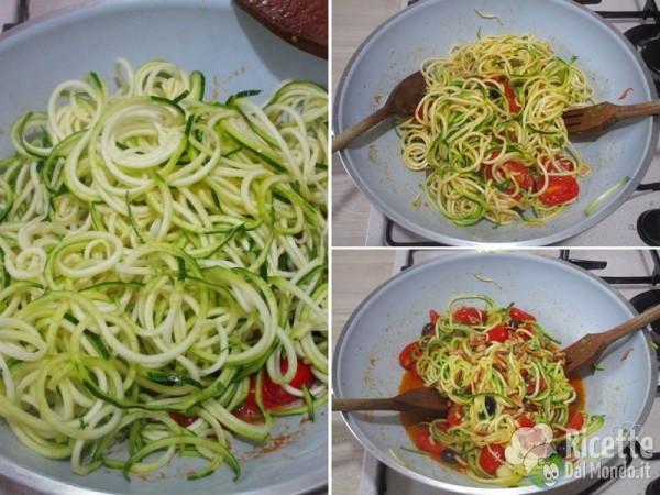 Spaghetti di zucchine 5