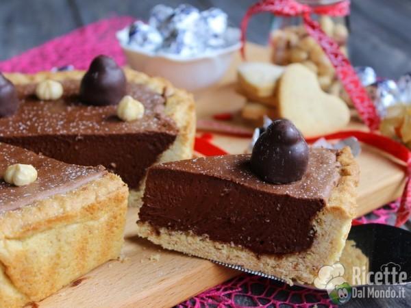 Crostata baci perugina al cioccolato