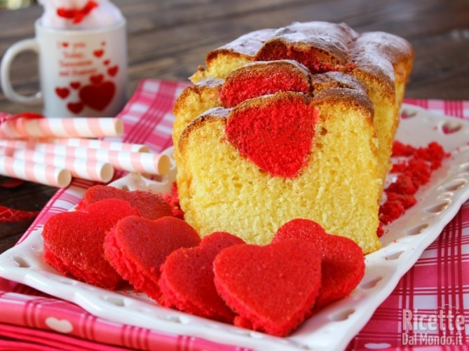 Plumcake con cuore a sorpresa soffice