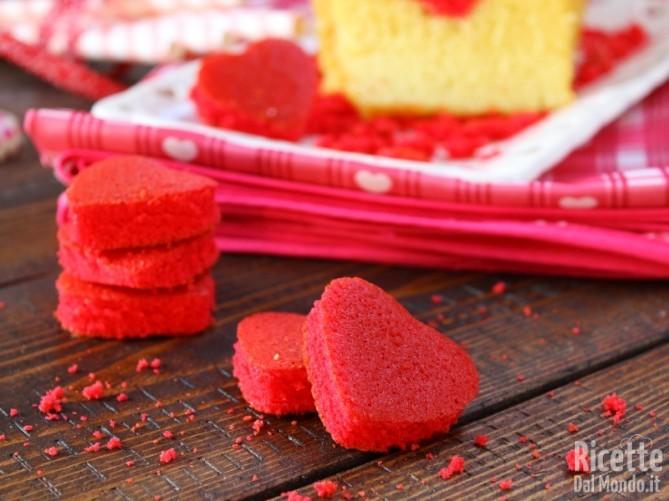 Plumcake con cuore a sorpresa per San Valentino
