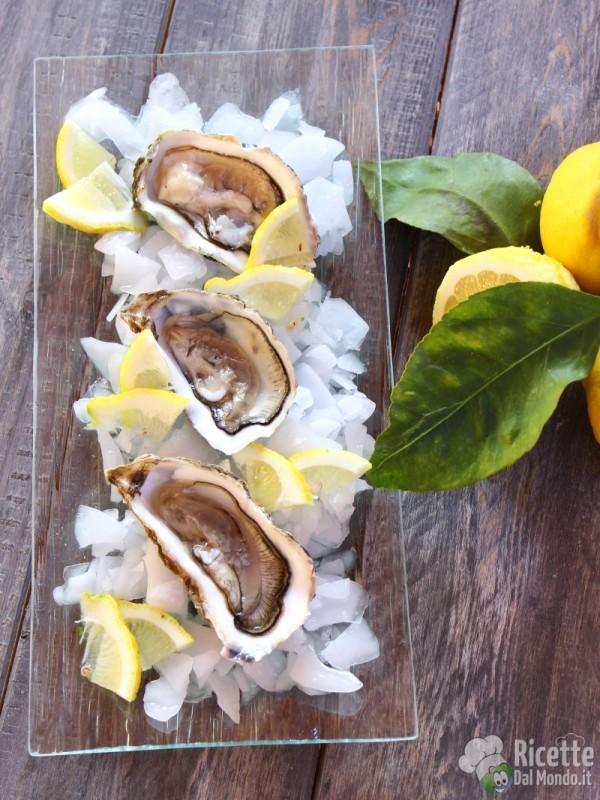 Ricetta Ostriche al limone crude