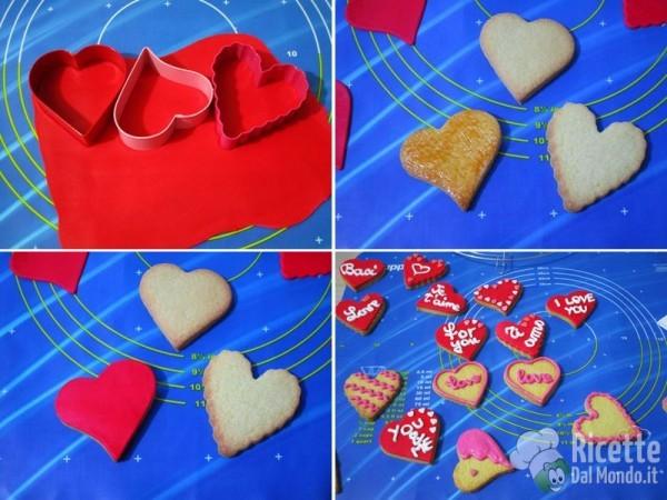 Biscotti di san Valentino a cuore decorati 5