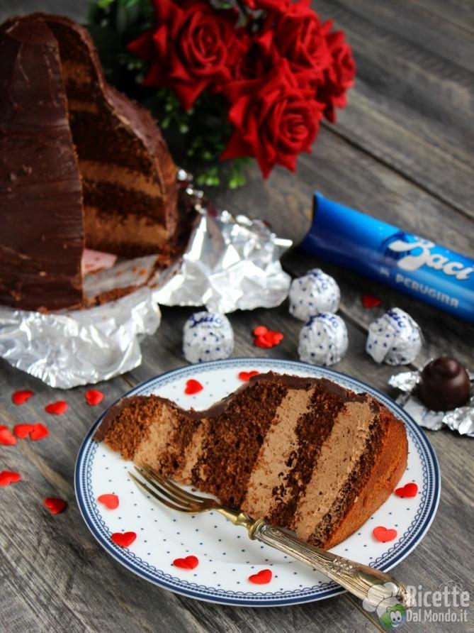 Torta Bacio Perugina, nocciole e Nutella