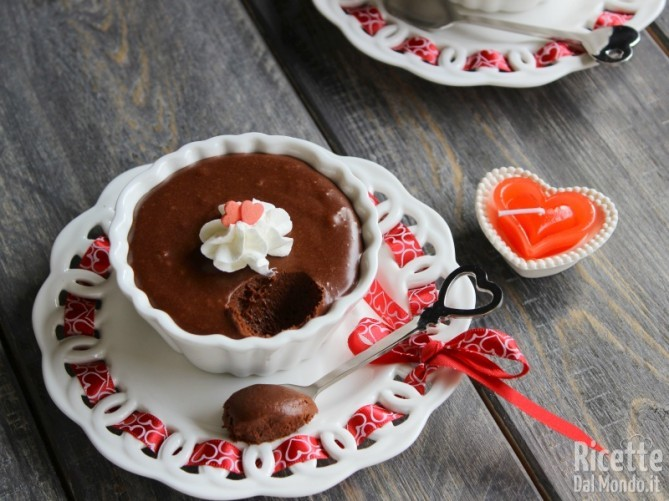 Mousse cioccolato e peperoncino per san valentino