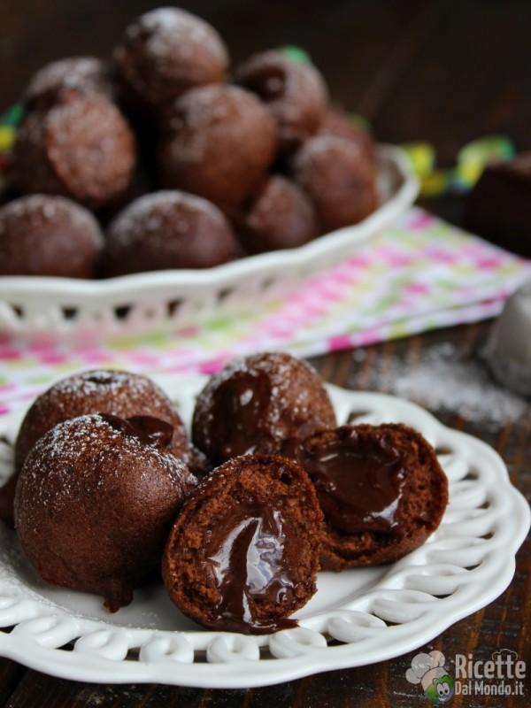 Come fare le castagnole al cioccolato ripiene