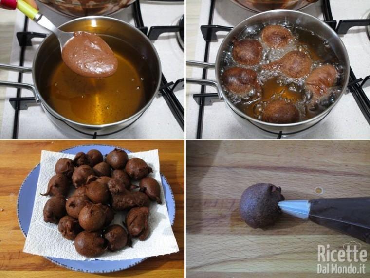 Bignole al cioccolato ripiene 10