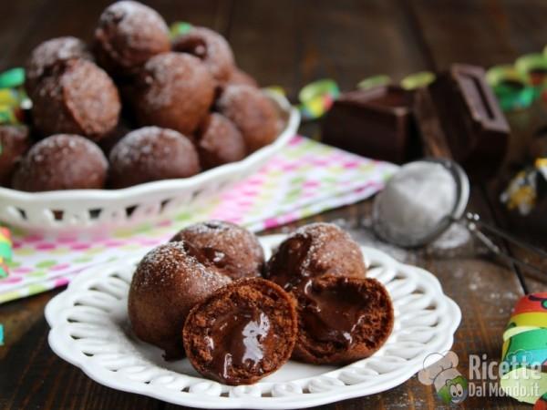 Ricetta castagnole al cioccolato ripiene