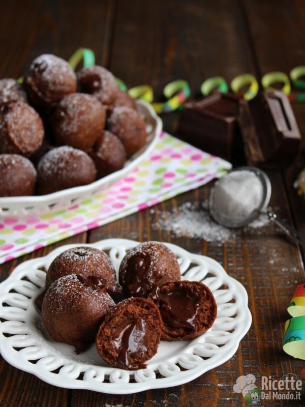 Ricetta castagnole al cioccolato ripiene di crema