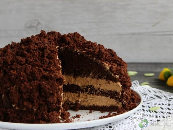 Torta mimosa al cioccolato con crema