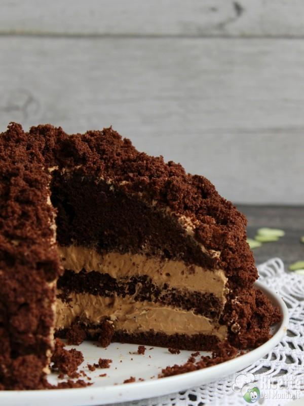 Semplice Torta mimosa al cioccolato