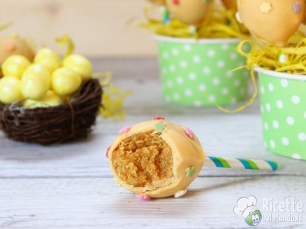 Cake pops pasquali a forma di uovo di Pasqua