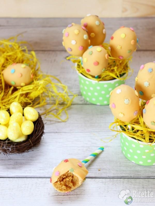 Cake pops piccole uova di Pasqua