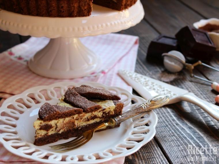 Dolce crostata ricotta e cioccolato