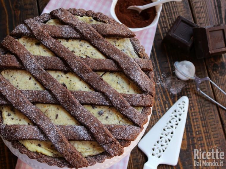 Ricetta crostata di ricotta e cioccolato