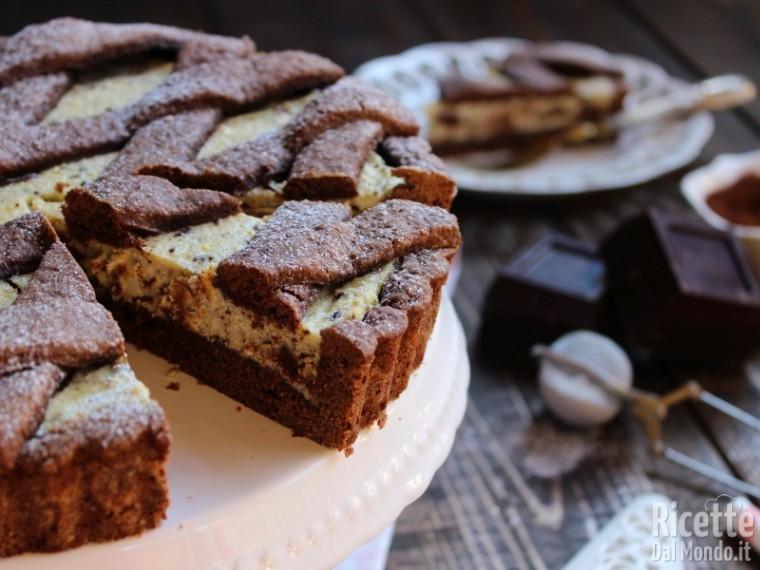 Ricetta crostata ricotta e cioccolato