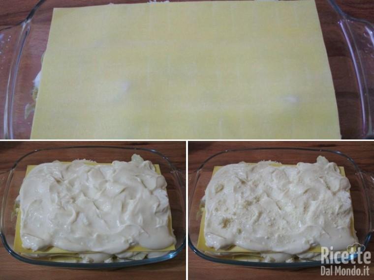 Lasagna in bianco con carciofi e mozzarella 5