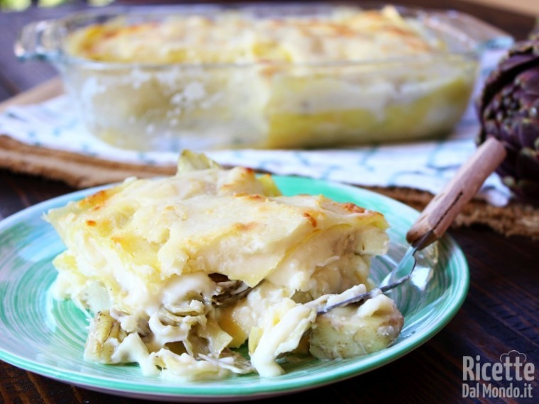 Ricetta lasagne ai carciofi e mozzarella