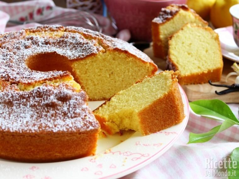 Ciambellone limone e vaniglia