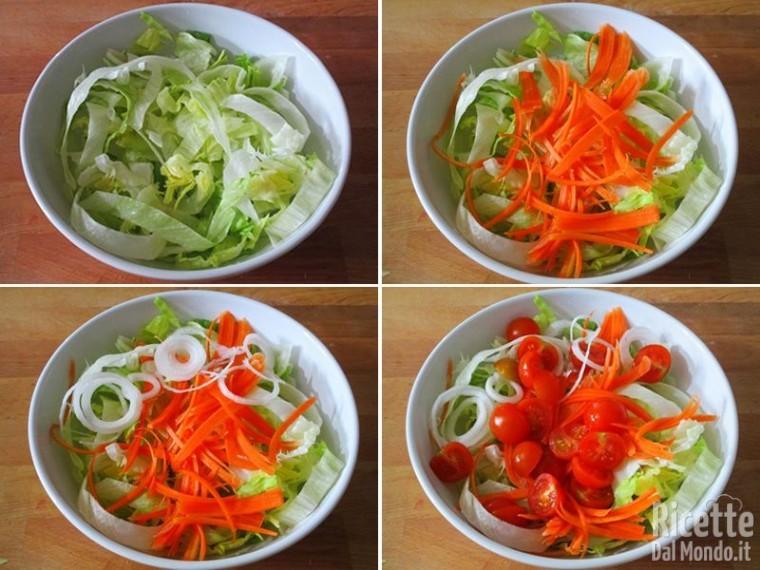 Pollo e insalata 4