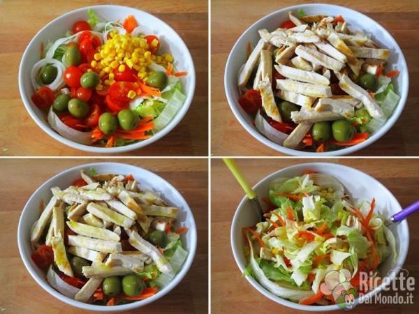 Pollo e insalata 6