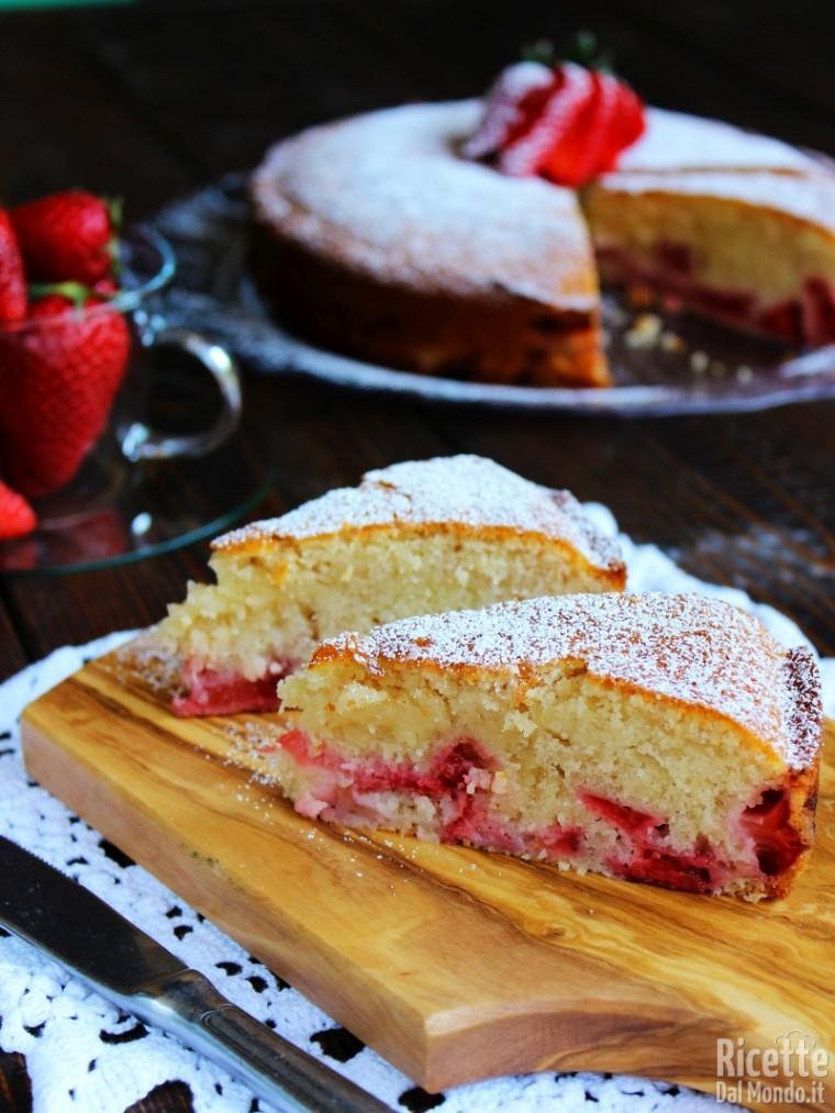 Soffice torta di fragole