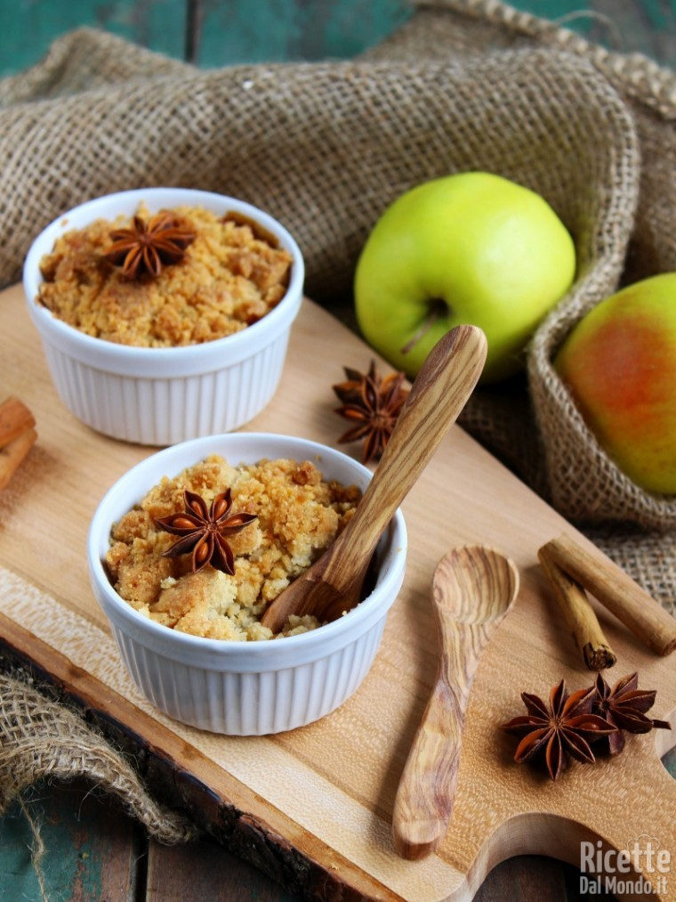 Ricetta classica del crumble di mele