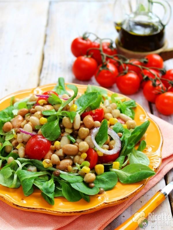 Ricetta insalata di legumi estiva