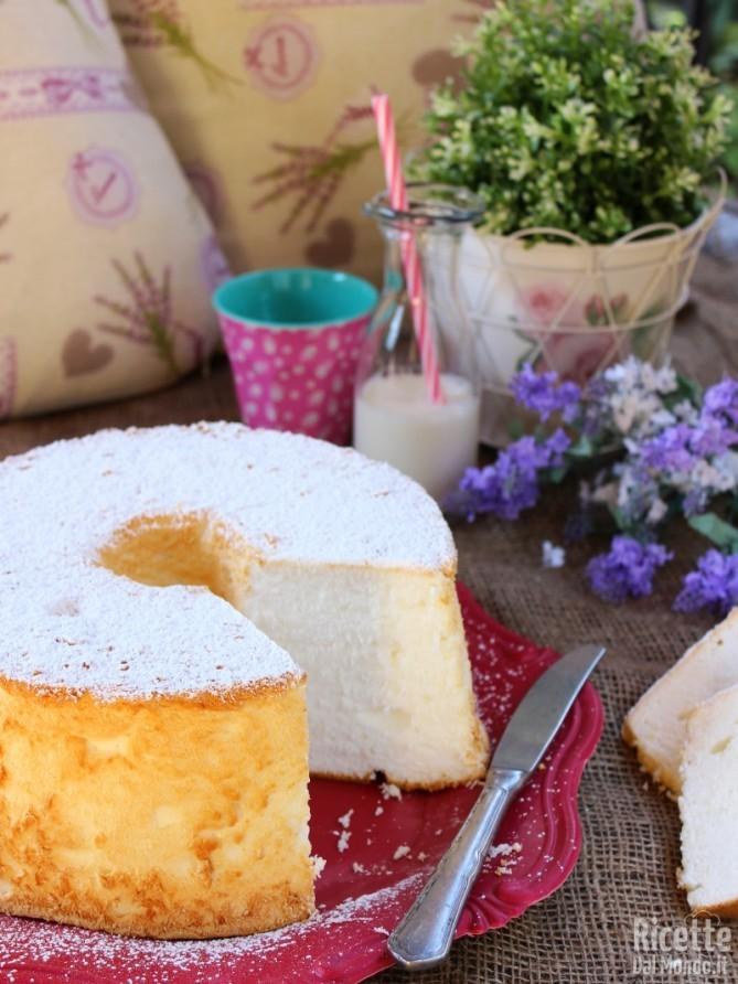Fluffosa: angel cake senza glutine