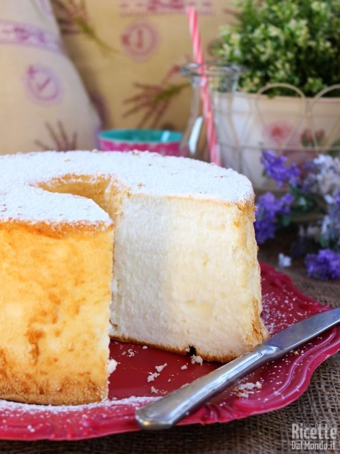 Angel cake senza glutine e senza latte