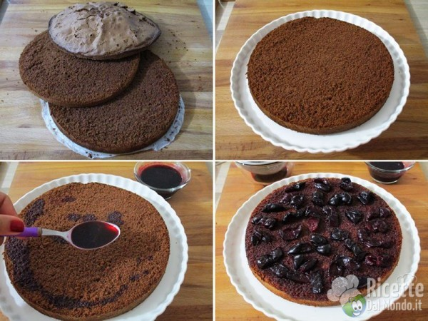 Torta al cioccolato e ciliegie 10