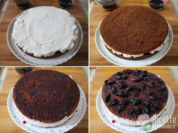 Torta al cioccolato e ciliegie 11