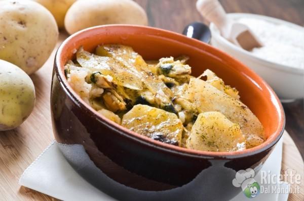 Puglia - tiella di riso, patate e cozze