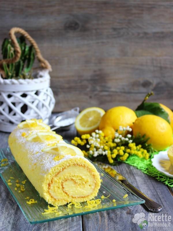 Gustoso rotolo al limone