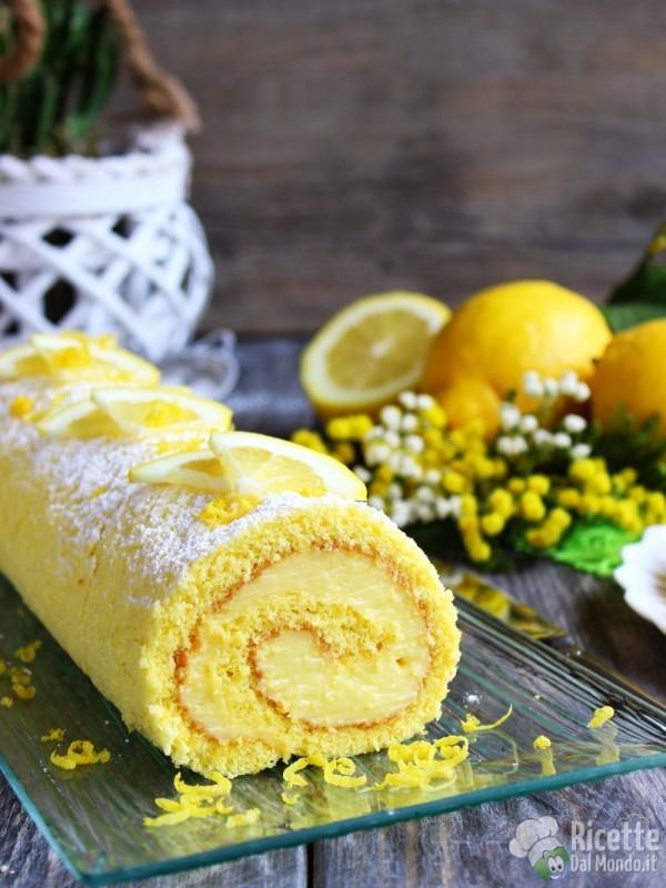Rotolo al limone con crema