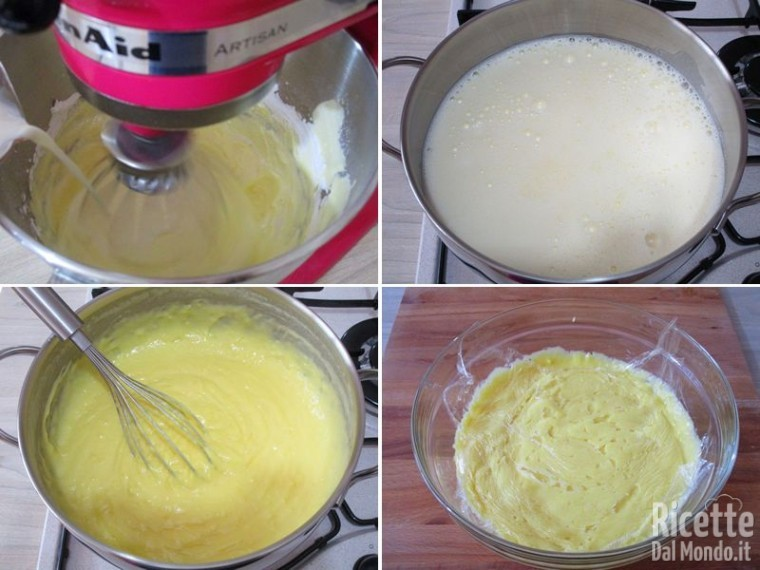 Rotolo di pasta biscuit con crema pasticcera al limone 9