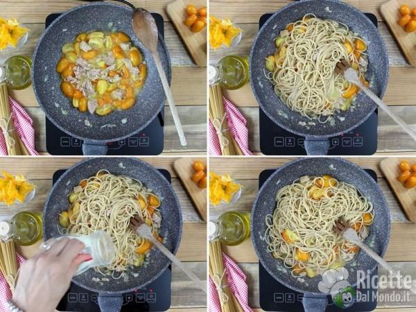 Spaghetti con pomodorini e tonno 3