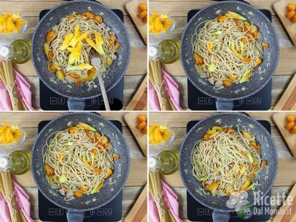 Spaghetti con pomodorini e tonno 4