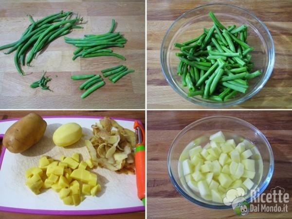 Pasta pesto, fagiolini e patate 2
