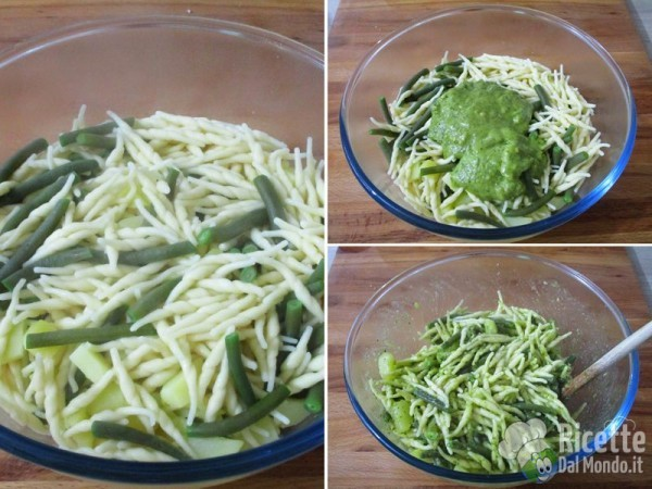 Pasta pesto, fagiolini e patate 4