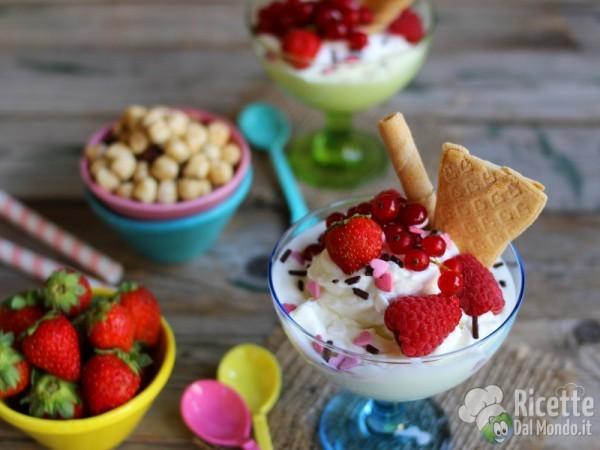 Frozen yogurt gelato