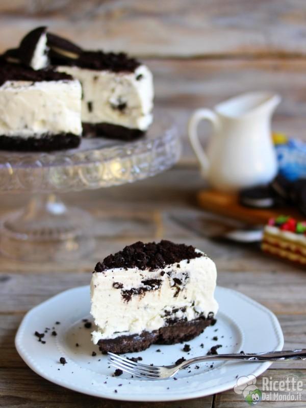 Torta gelato Oreo senza cottura