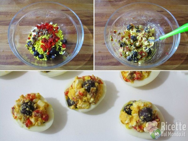 Uova sode ripiene di feta, ricetta greca 6